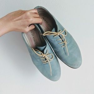 Two By Vince Shoes Leather Blue